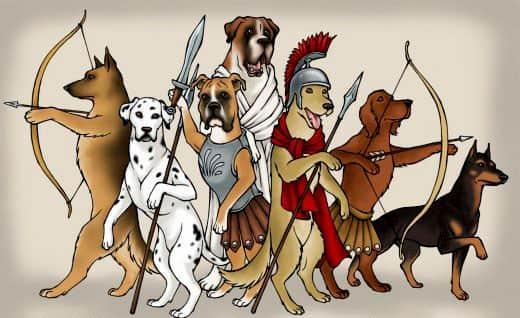nombres romanos para perros
